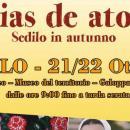 Zenias de Atonzu 2017 a Sedilo, il programma completo di Sabato 21 e Domenica 22 ottobre 2017