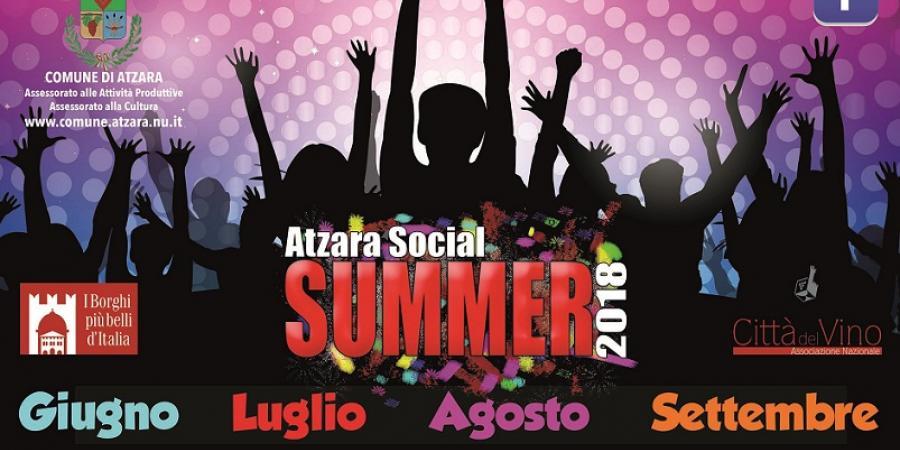 Atzara social Summer Festival 2018, ecco tutti gli appuntamenti dell'estate ad Atzara