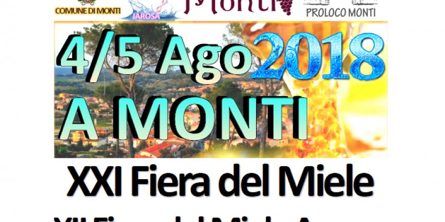 Fiera del Miele e del Miele amaro a Monti, ecco il programma completo del 4 e 5 Agosto 2018