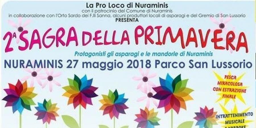 Sagra della Primavera a Nuraminis, ecco il programma dell'evento del 27 Maggio 2018
