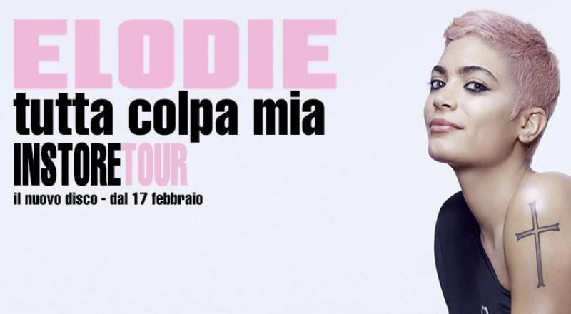 La cantante di Amici Elodie, a Cagliari per il suo instore tour