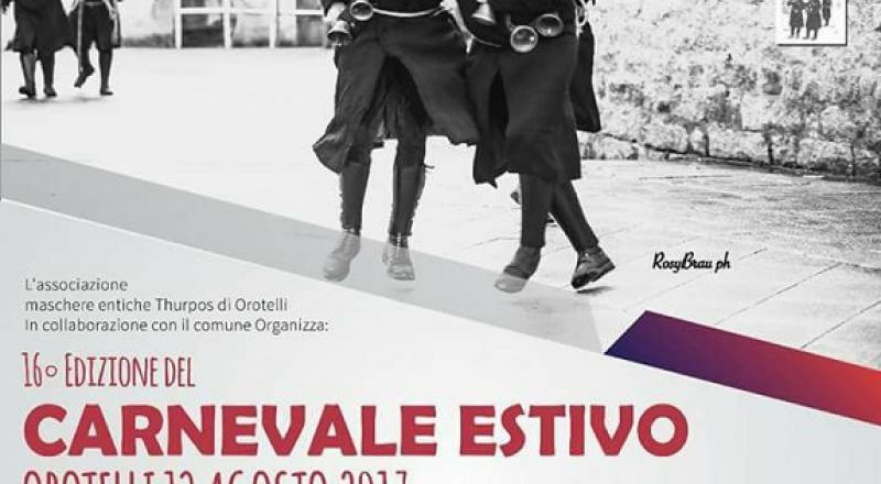 Carnevale Estivo ad Agosto 2017 in Sardegna