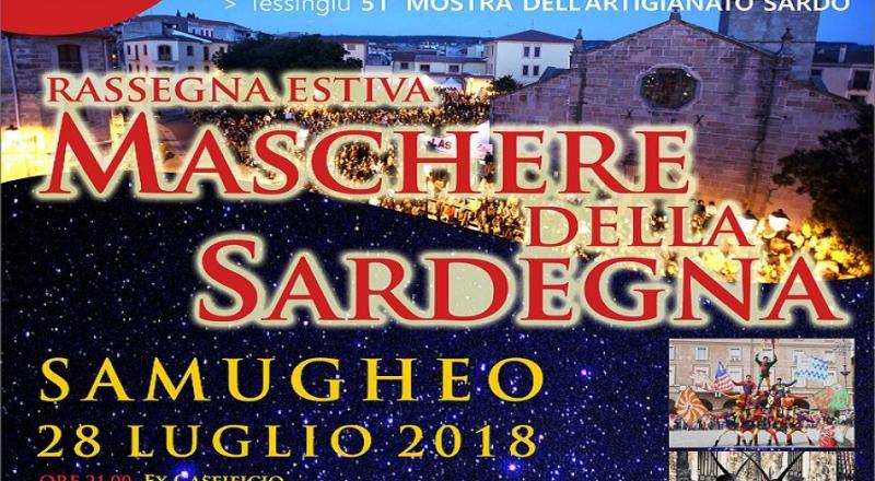 Rassegna estiva Maschere della Sardegna 2018 a Samugheo, ecco il programma del 28 Luglio