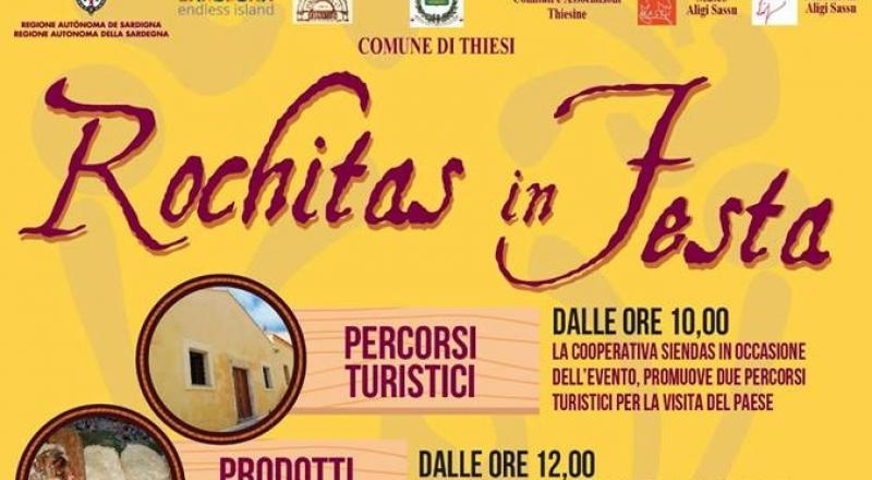 Rochitas in Festa 2017 a Thiesi, ecco il programma del 16 Dicembre 2017