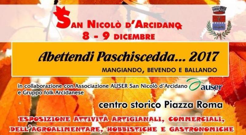 Abettendi Paschiscedda a San Nicolò d'Arcidano 2017, ecco il programma dell'evento dell'8 e 9 Dicembre 2017