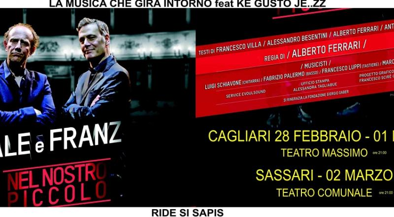 """Ale e Franz """"Nel nostro piccolo"""" a Cagliari e Sassari"""