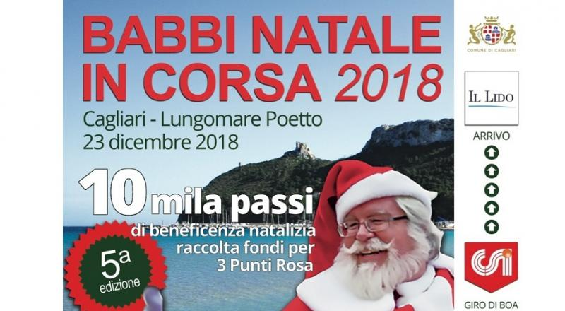 Babbi Natale in corsa a Cagliari, ecco l'appuntamento del 23 dicembre sul lungomare Poetto