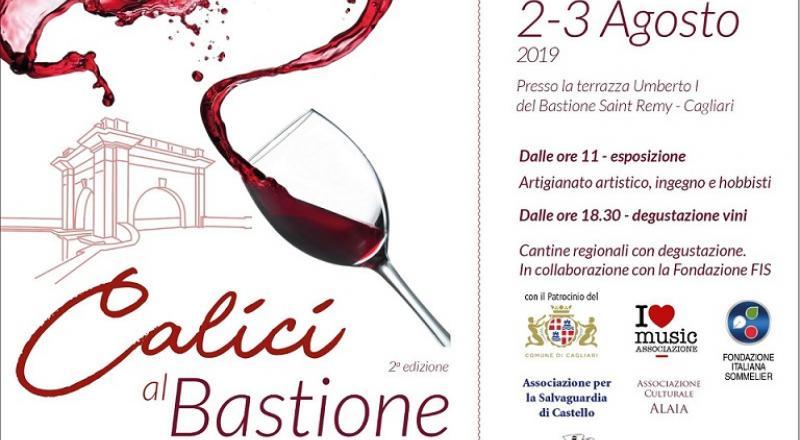 Calici al Bastione 2019, evento dedicato al vino nel cuore di Cagliari