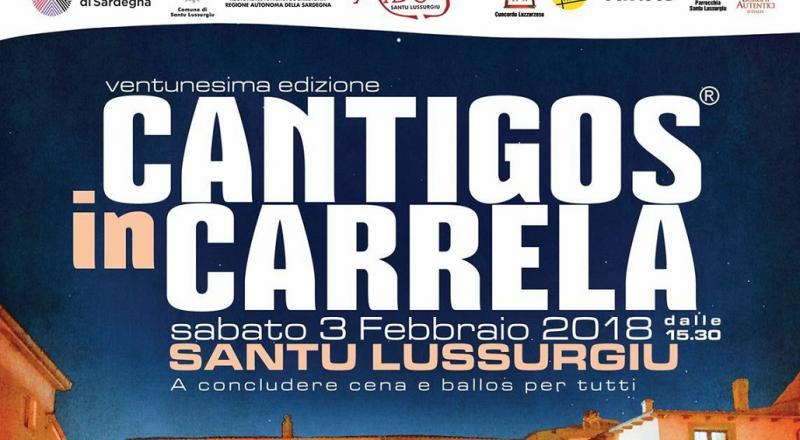 Cantigos in Carrela a Santu Lussurgiu, il programma del 2 e 3 Febbraio