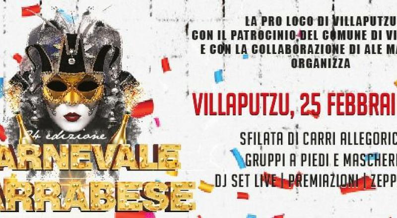 Carnevale Sarrabese 2018, il programma completo del 25 Febbraio a Villaputzu