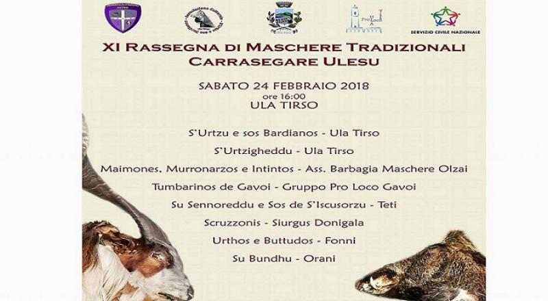 Carrasegare Ulesu, rassegna di maschere tradizionali della Sardegna