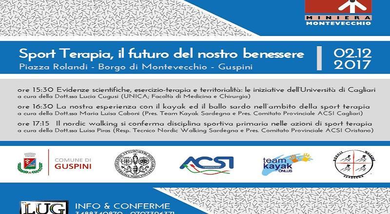 Sport Terapia, il futuro del nostro benessere - Convegno alle Miniere di Montevecchio il 2 Dicembre