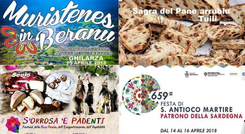Eventi Weekend 13, 14, 15 Aprile 2018 tutti gli eventi e le sagre da non perdere in Sardegna