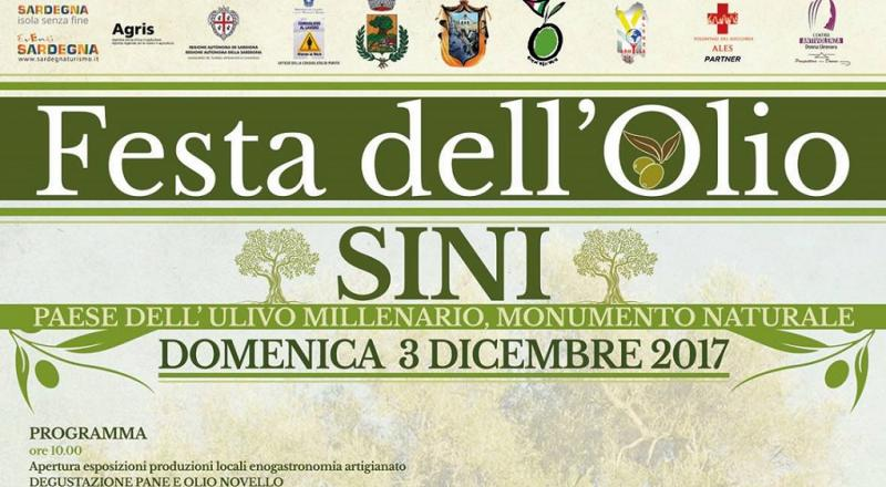 Festa dell'Olio di Sini 2017, ecco il programma dell'evento di domenica 3 Dicembre