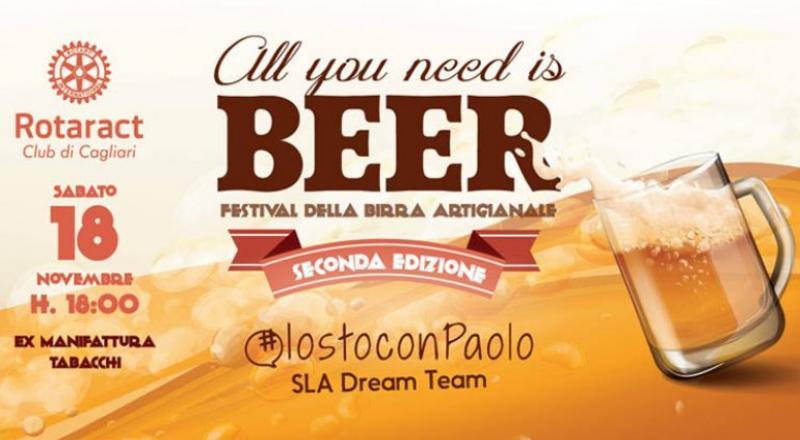 All you need is Beer 2017, ecco il programma dell'evento a Cagliari del 18 Novembre 2017