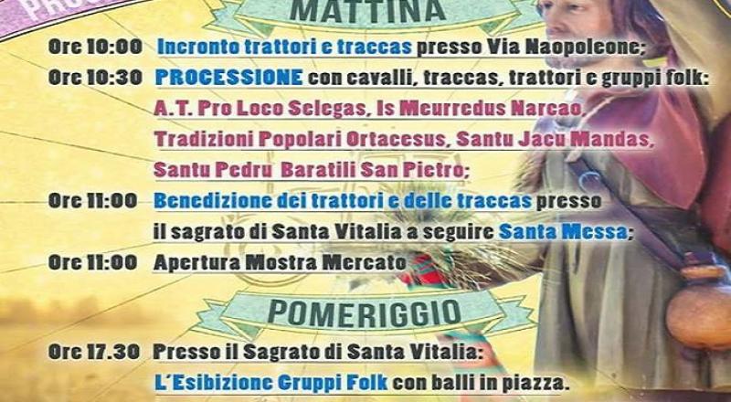 Selegas, Festa di Sant'Isidoro, ecco il programma completo di Domenica 14 Maggio 2017