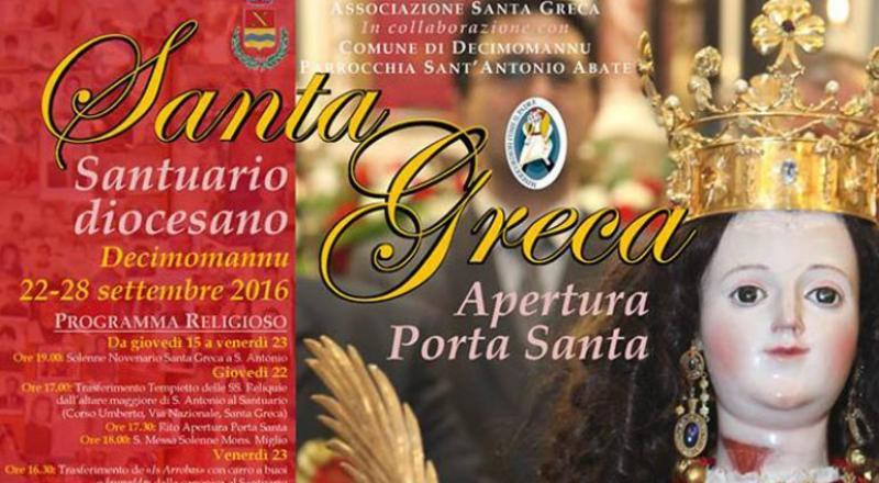 Festeggiamenti Santa Greca a Decimomannu 2019, ecco il programma