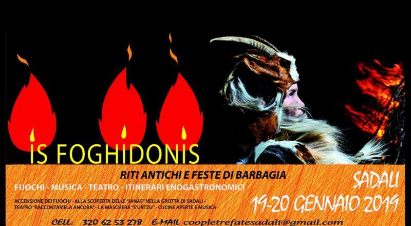 Is Foghidonis 2019, il programma dei fuochi di Sant'Antoni a Sadali