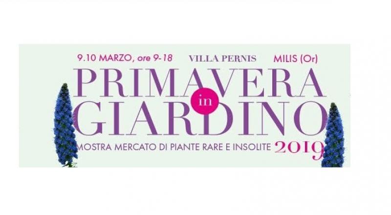 Primavera in Giardino a Milis, evento in programma il 9 e 10 Marzo 2019