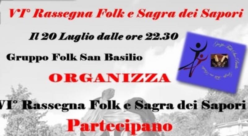 Rassegna Folk e Sagra dei Sapori a San Basilio 2019