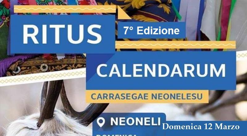 Neoneli, il Ritus Kalendarum, Ecco il programma di Domenica 12 Marzo 2017