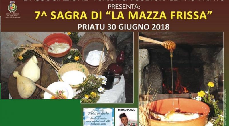 Sagra della Mazza Frissa 2018, ecco il programma completo del 30 Giugno a Priatu (Sant'Antonio di Gallura)