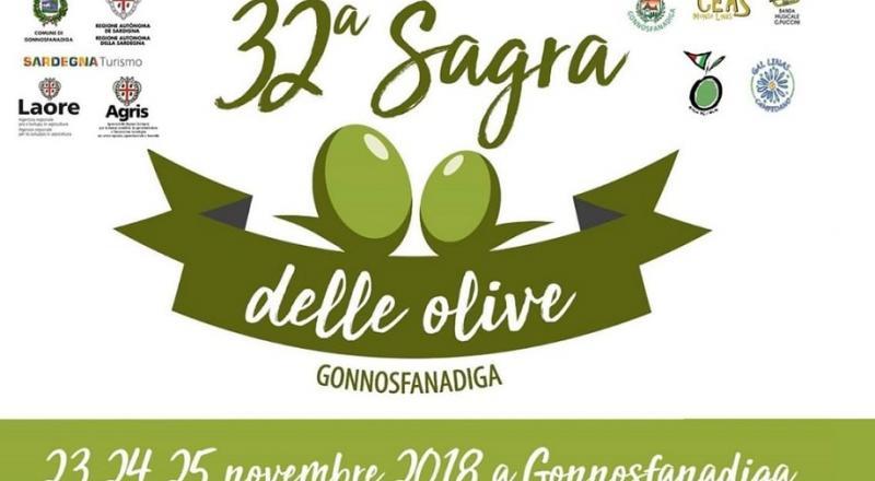 Sagra delle Olive 2018 a Gonnosfanadiga, il programma dell'evento del 23, 24 e 25 novembre 2018