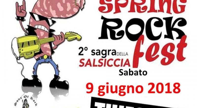 Sagra della salsiccia e Spring Rock Fest a Thiesi, ecco il programma del 9 Giugno 2018
