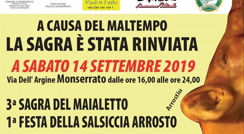Sagra del Maialetto 2019 Monserrato, il programma del 14 Settembre