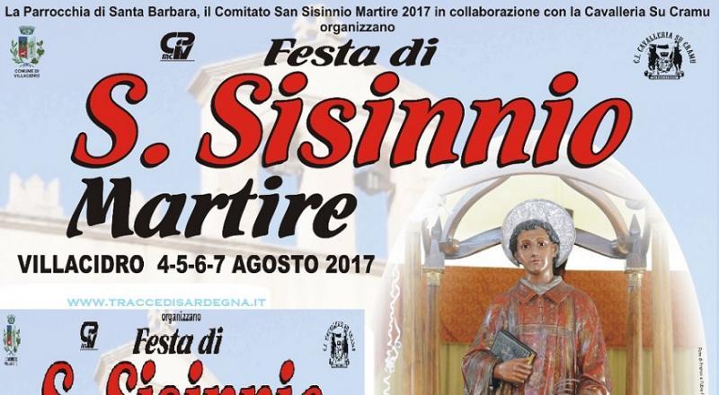 Festeggiamenti in onore di San Sisinnio Martire a Villacidro, ecco il programma dell'evento del 4, 5, 6 e 7 Agosto 2017