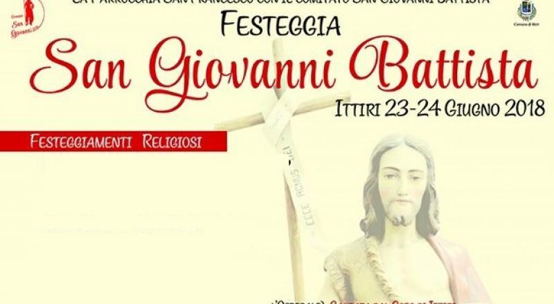 Festeggiamenti in Sardegna in onore di San Giovanni Battista dal 21 al 26 Giugno 2018
