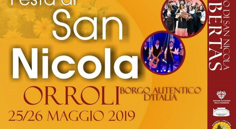 Festa di San Nicola 2019 a Orroli, 25 e 26 Maggio