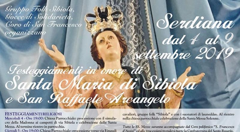 Festeggiamenti di Santa Maria di Sibiola e San Raffaele Arcangelo a Serdiana dal 4 al 9 Settembre