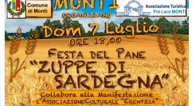 Zuppe di Sardegna 2019, a Monti la festa del pane
