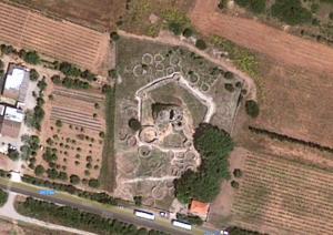 Nuraghe Palmavera - Foto Satellitare