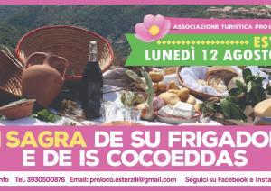 Sagra su Frigadori e is cocoeddas 2019 a Esterzili, programma 12 Agosto!