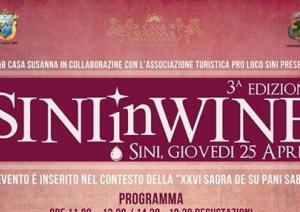 Sini in Wine,, degustazione vini delle cantine della Sardegna